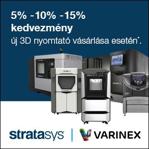 5% - 10% - 15% kedvezmény új 3D nyomtató vásárlása esetén 2019. november 15-ig.