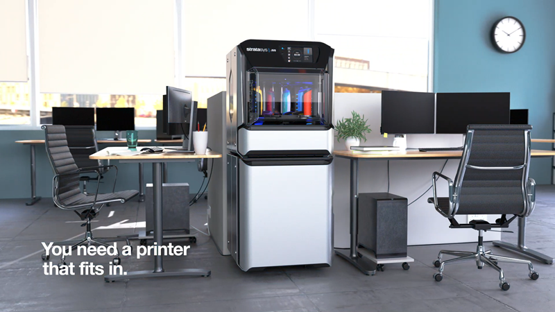 A Stratasys J55 3D nyomtatót irodai használatra tervezték