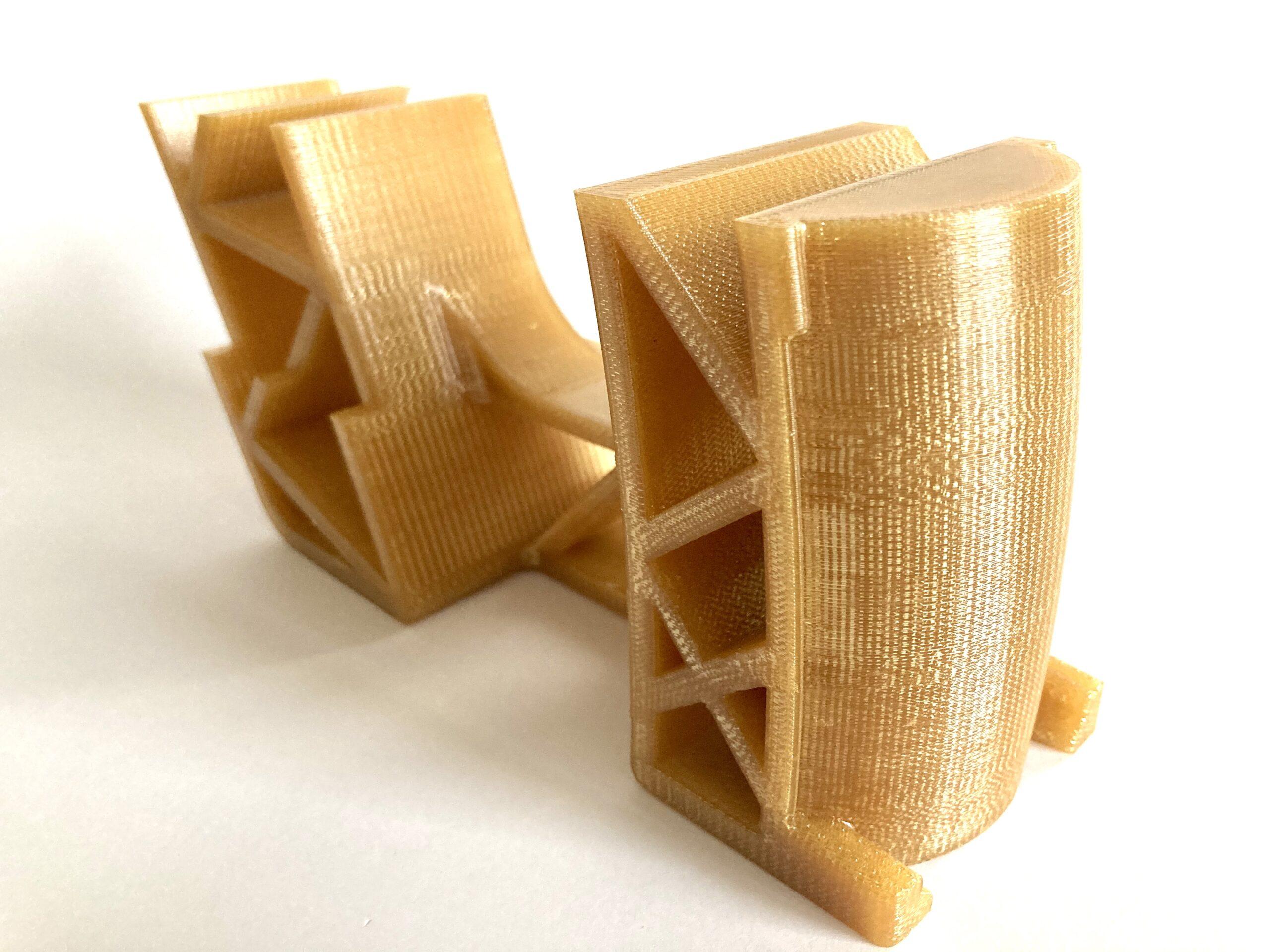 kémiai polírozáson átesett Ultem 1010 3D nyomtatott alkatrész