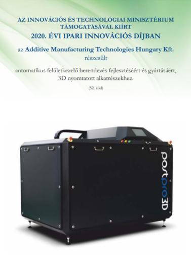 Innovációs Ipari Nagydíjban részesült az AMT PostPro felületkezelő berendezés